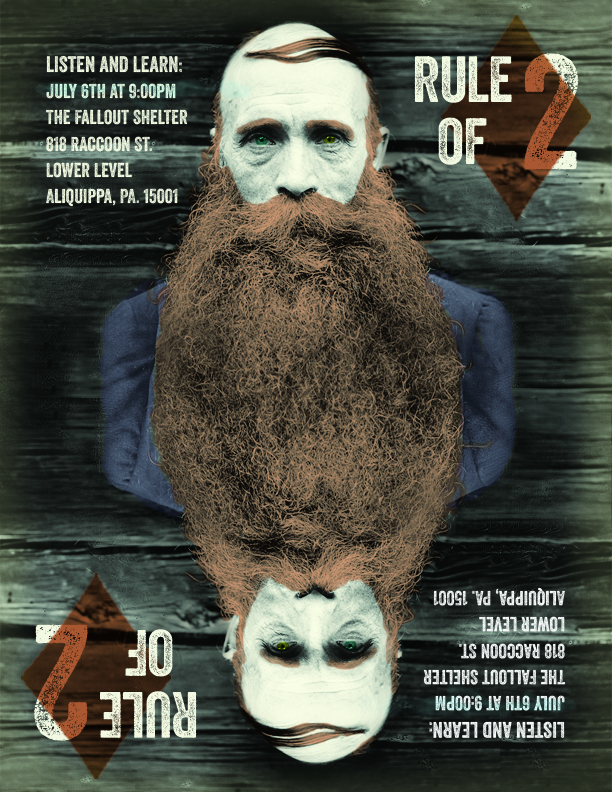 Rule of Two beard poster