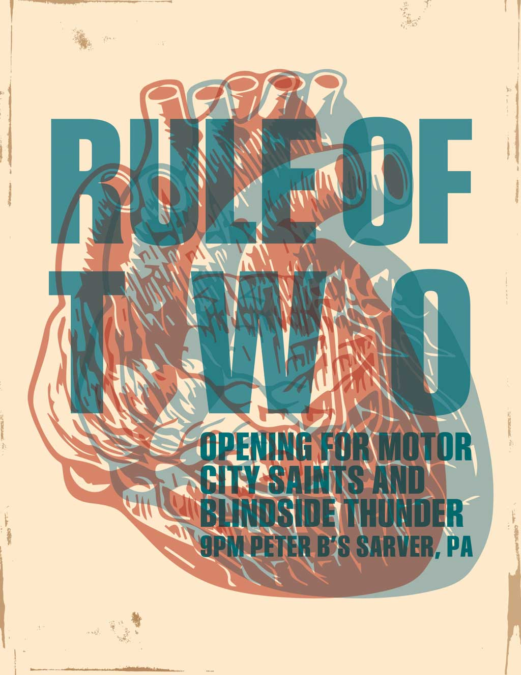 Rule of Two Hearts Poster